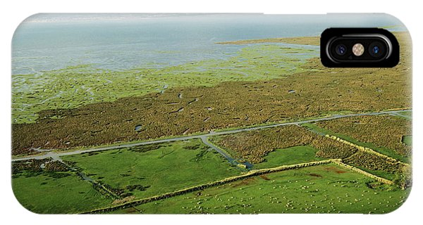 Tidal Marsh iPhone Case - Llanrhidian Saltmarsh by Skyscan/science Photo Library