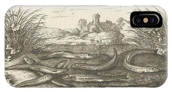 Loaches On A River Bank, Albert Flamen Phone Case by Albert Flamen