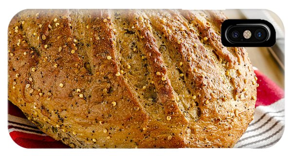Loaf Of Whole Grains And Seeded Bread IPhone Case