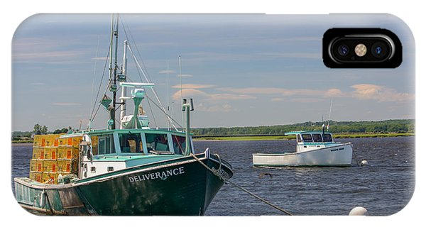 IPhone Case featuring the photograph Lobster Boat Deliverance  by Kirkodd Photography Of New England