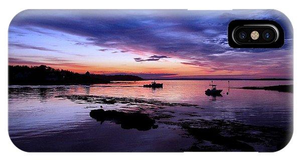 Lobster Boat Sunrise IPhone Case
