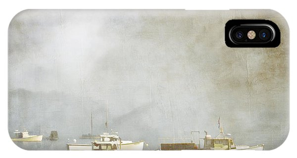 Boat iPhone Case - Lobster Boats At Anchor Bar Harbor Maine by Carol Leigh