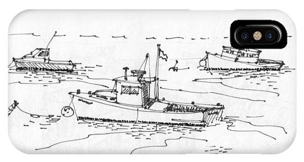 Lobster Boats Monhegan Island 1993 IPhone Case