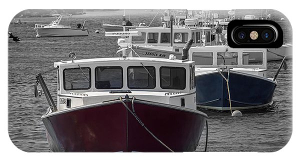 Lobster Boats Selective Color IPhone Case