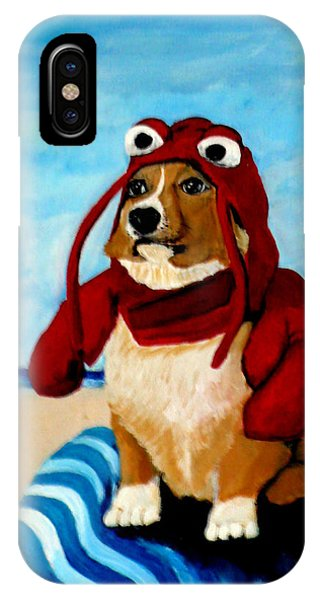 Lobster Corgi On The Beach IPhone Case