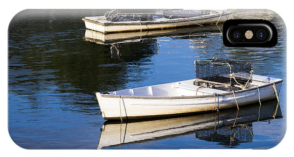 Lobster Dinghies - Perkins Cove - Maine IPhone Case