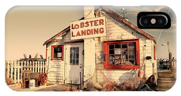 Lobster Landing Clinton Connecticut IPhone Case