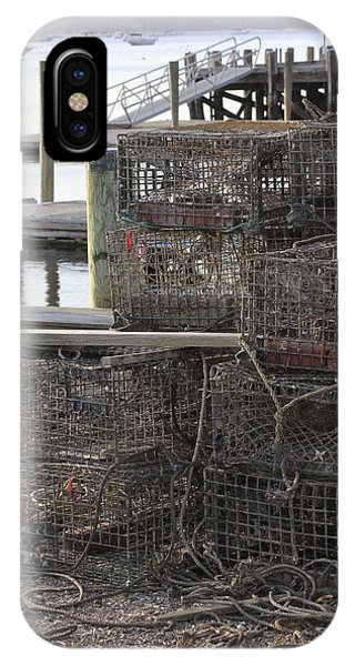 Lobster Pots Northport New York IPhone Case