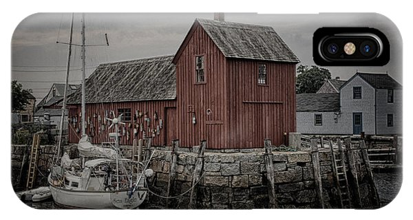 New England Barn iPhone Case - Lobster Shack - Rockport by Stephen Stookey