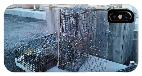 iPhone Case - Lobster Traps by Scott Decker