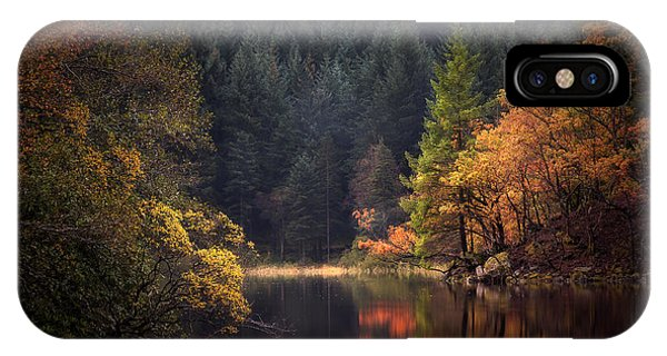 Loch Ard iPhone Case - Loch Ard In The Fall by John Farnan
