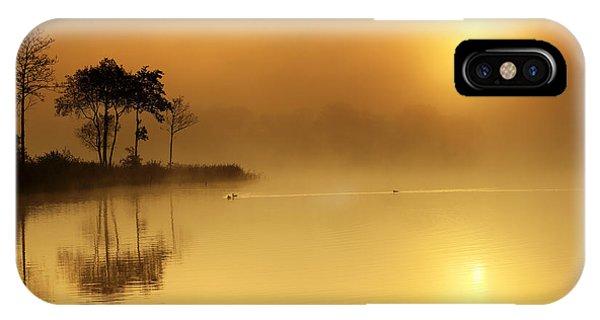 Loch Ard iPhone Case - Loch Ard Morning Glow by Grant Glendinning