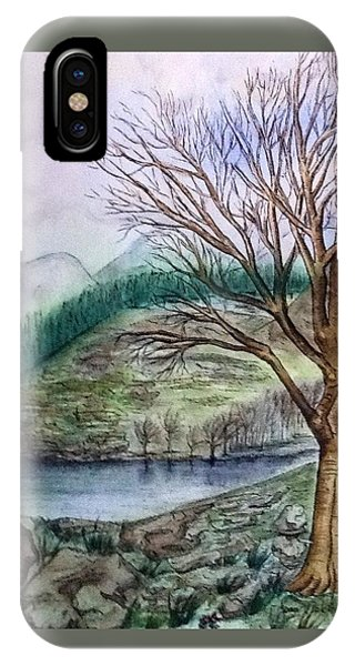 Loch Ard Stirling Overlooking Loch A'ghleannain IPhone Case