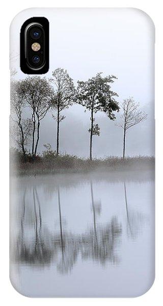Loch Ard iPhone Case - Loch Ard Trees In The Mist by Grant Glendinning