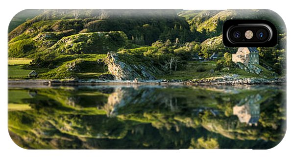 Loch Crinan Scotland And Duntrune Castle IPhone Case