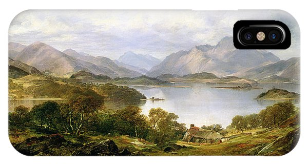 Mountainous iPhone Case - Loch Lomond, 1861 by Horatio McCulloch