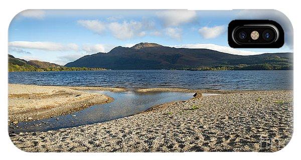 Beautiful Scotland iPhone Case - Loch Lomond Pano by Jane Rix