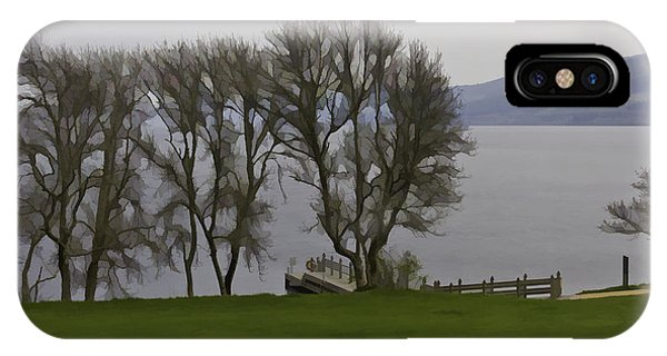 Loch Ness And Boat Jetty Next To Urquhart Castle IPhone Case
