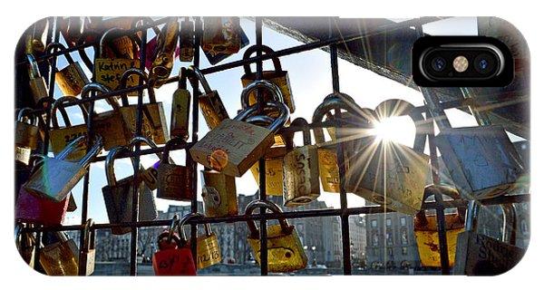 Lock Up Paris Phone Case by Stephen Richards