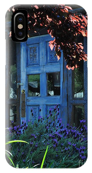 Locked Blue Door  IPhone Case