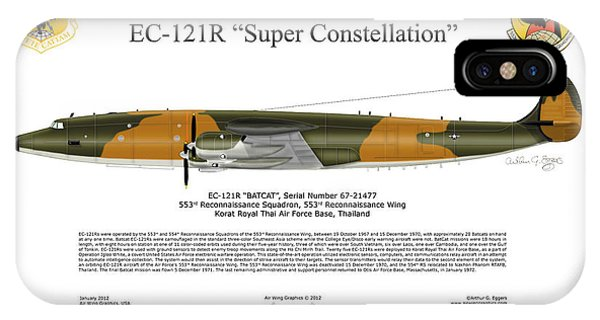 Lockheed Ec-121r 553rs Korat Rtafb IPhone Case