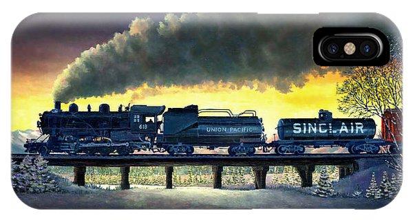 Locomotive In Winter IPhone Case