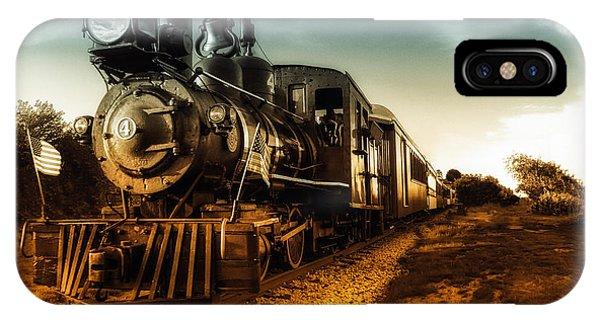 Train Tracks iPhone Case - Locomotive Number 4 by Bob Orsillo