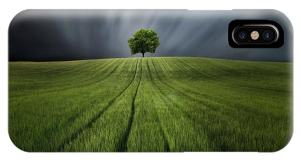 Farm Landscape iPhone Case - Locuras De Primavera by Sergio Gonz?lez Sierra