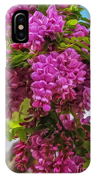 iPhone Case - Locust Blooms by Nancy Marie Ricketts