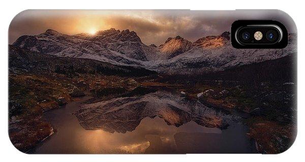 Snowy iPhone Case - Lofoten Mountains by Inigo Cia