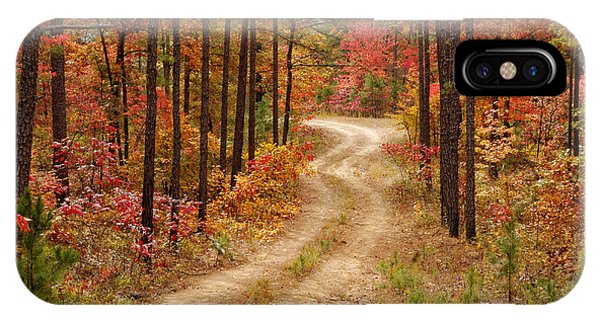 Logging Road In The Ouachita National Forest - Beaver's Bend State Park - Poteau - Oklahoma Arkansas IPhone Case