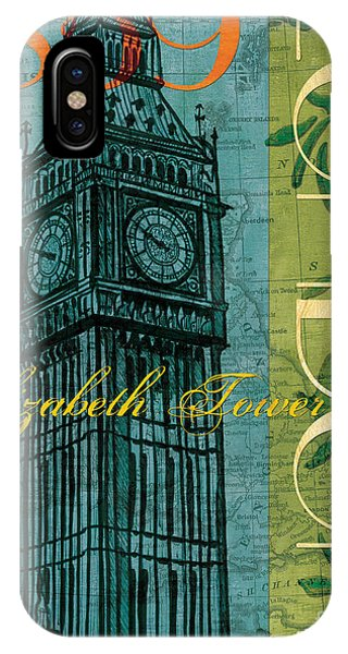 Travel iPhone Case - London 1859 by Debbie DeWitt