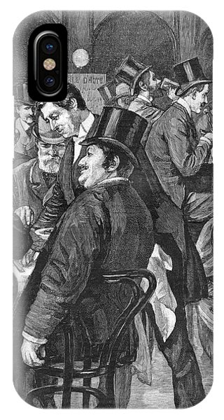 London Businessmen At Lunch, 1891 Phone Case by  Illustrated London News Ltd/Mar