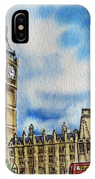 Clock iPhone Case - London England Big Ben by Irina Sztukowski
