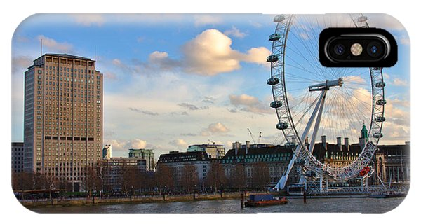 London Eye And Shell Building IPhone Case