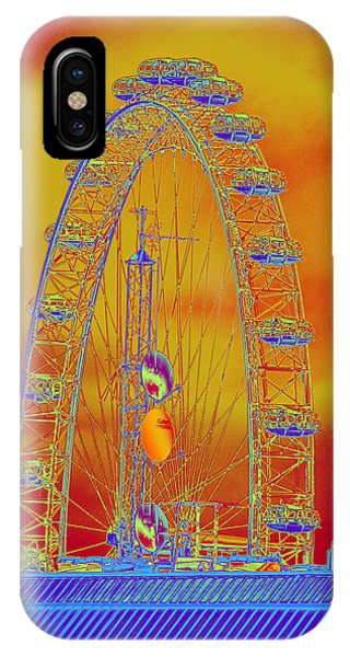 London Eye In A Fiery Sky IPhone Case