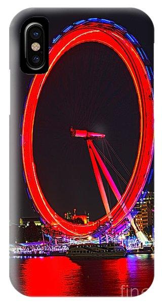 London Eye iPhone Case - London Eye Red by Jasna Buncic