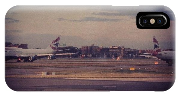 London iPhone Case - #london #heathrow #britishairways by Abdelrahman Alawwad