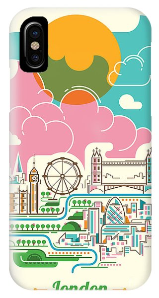 Ben iPhone Case - London Illustration In Color. Vector by Radoman Durkovic