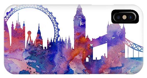 London Eye iPhone Case - London by Watercolor Girl