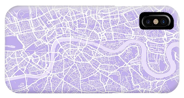 England iPhone Case - London Map Lilac by Michael Tompsett