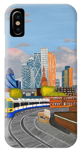 London Overland Train-hoxton Station IPhone Case