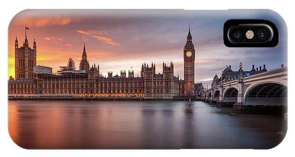 Ben iPhone Case - London Palace Of Westminster Sunset by Merakiphotographer
