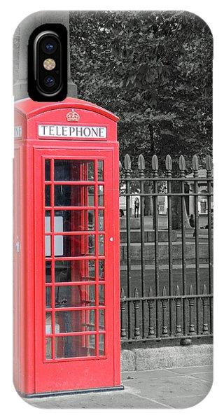 London Phone Box IPhone Case