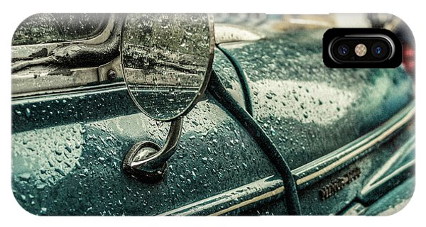 Water Droplets iPhone Case - London Rain by Riccardo Berg