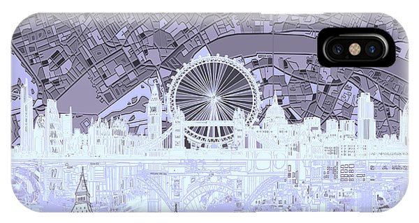 London Skyline Abstract 10 IPhone Case