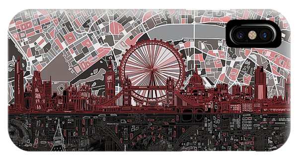 Palace iPhone Case - London Skyline Abstract 6 by Bekim M