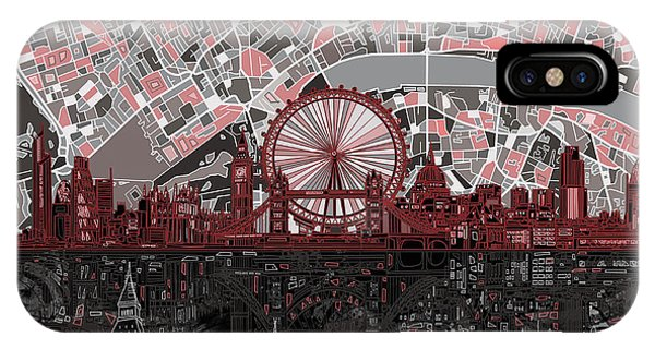 London Skyline Abstract 6 IPhone Case