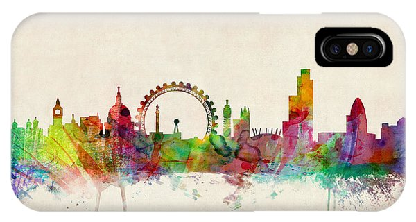 Print iPhone Case - London Skyline Panoramic by Michael Tompsett