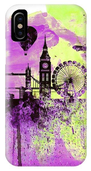 London Skyline Watercolor 1 IPhone Case
